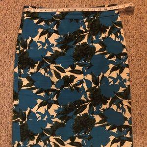 J Crew printed pencil skirt - size 8T